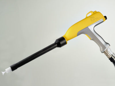Pistola triboelettrica per verniciatura a polvere manuale